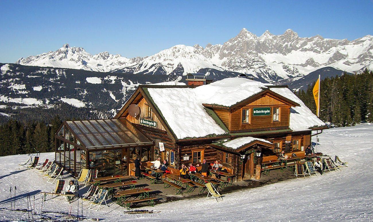 Skihütte in Ski amadé - Skihütte Unterbergalm im Skigebiet Fageralm